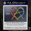 Anarchy Heart Decal Sticker Glitter Sparkle 120x120