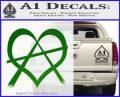 Anarchy Heart Decal Sticker Green Vinyl Logo 120x97
