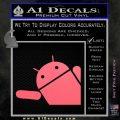 Android Corner Wave Decal Sticker Pink Emblem 120x120