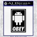Android Obey Full Decal Sticker Black Vinyl 120x120