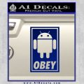 Android Obey Full Decal Sticker Blue Vinyl 120x120