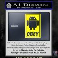 Android Obey Full Decal Sticker Yellow Laptop 120x120