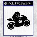 Android Riding Motorcycle Decal Sticker Black Vinyl 120x120