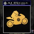 Android Riding Motorcycle Decal Sticker Gold Vinyl 120x120