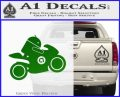 Android Riding Motorcycle Decal Sticker Green Vinyl Logo 120x97