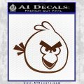 Angry Birds Decal Sticker BROWN Vinyl 120x120