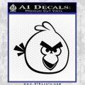 Angry Birds Decal Sticker Black Vinyl 120x120