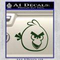 Angry Birds Decal Sticker Dark Green Vinyl 120x120