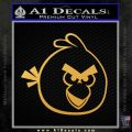 Angry Birds Decal Sticker Gold Vinyl 120x120