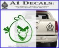 Angry Birds Decal Sticker Green Vinyl Logo 120x97