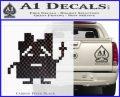 Aqua Teen Hunger Force Decal Sticker Alien Carbon FIber Black Vinyl 120x97