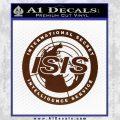 Archer ISIS Spy Logo Decal Sticker BROWN Vinyl 120x120