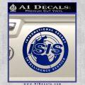 Archer ISIS Spy Logo Decal Sticker Blue Vinyl 120x120