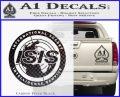 Archer ISIS Spy Logo Decal Sticker Carbon FIber Black Vinyl 120x97