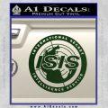 Archer ISIS Spy Logo Decal Sticker Dark Green Vinyl 120x120