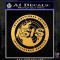 Archer ISIS Spy Logo Decal Sticker Gold Vinyl 120x120