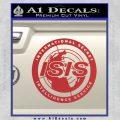 Archer ISIS Spy Logo Decal Sticker Red 120x120
