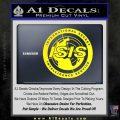 Archer ISIS Spy Logo Decal Sticker Yellow Laptop 120x120