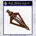 Archery Broadhead Decal Sticker BROWN Vinyl 120x120