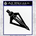 Archery Broadhead Decal Sticker Black Vinyl 120x120