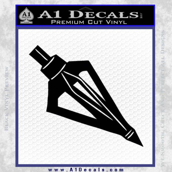 Archery Broadhead Decal Sticker Black Vinyl