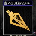 Archery Broadhead Decal Sticker Gold Vinyl 120x120