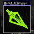 Archery Broadhead Decal Sticker Lime Green Vinyl 120x120