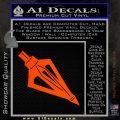 Archery Broadhead Decal Sticker Orange Emblem 120x120