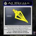 Archery Broadhead Decal Sticker Yellow Laptop 120x120