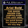 Custom Text Decal Sticker 1 Gold Vinyl 120x120
