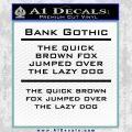 Custom Text Decal Sticker 2 Black Vinyl 120x120