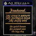 Custom Text Decal Sticker 5 Gold Vinyl 120x120