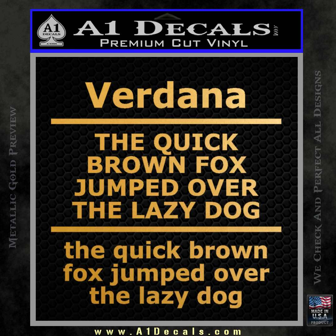 Custom Text Decal Sticker 7 Gold Vinyl