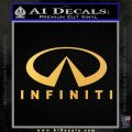 Infinity Stacked Fat Decal Sticker Gold Vinyl 120x120