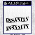 Insanity Workout D1 Decal Sticker Black Vinyl 120x120