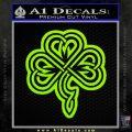 Irish Shamrock Clover Celtic D2 Decal Sticker Lime Green Vinyl 120x120
