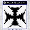 Iron Cross Decal Celtic Sticker D6 Black Vinyl 120x120