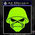 Iron Maiden Army Skull Decal Sticker Lime Green Vinyl 120x120