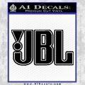 JBL Decal Sticker Outline Decal Sticker Black Vinyl 120x120