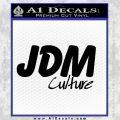 JDM Culture Decal Sticker Black Vinyl 120x120