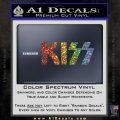 KISS Decal Sticker Glitter Sparkle 120x120