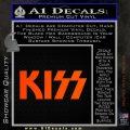 KISS Decal Sticker Orange Emblem 120x120