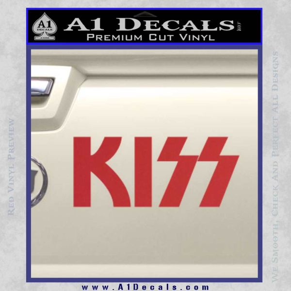 KISS Decal Sticker Red