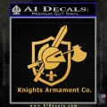 Knights Armament Co Firearms Decal Sticker Gold Vinyl 120x120