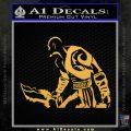 Kratos God of War Decal Sticker Gold Vinyl 120x120