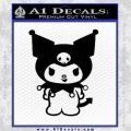 Kuromi Sanrio Decal Sticker Black Vinyl 120x120