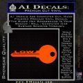 Low Key Decal Sticker Orange Emblem 120x120