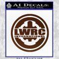 Lwrc International Firearms Decal Sticker BROWN Vinyl 120x120