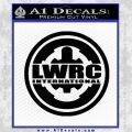 Lwrc International Firearms Decal Sticker Black Vinyl 120x120
