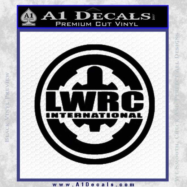 Lwrc International Firearms Decal Sticker Black Vinyl